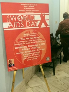 Borough hall - Worlds Aids Day1- 12.2.15